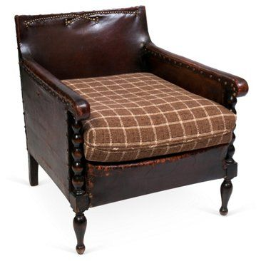 Check out this item at One Kings Lane! French Leather Club Chair, C. 1910