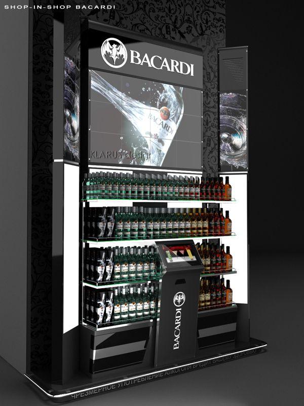 Retail Point of Purchase Design | POP Design | Alcohol & Soft Drinks POP | Shop in Shop Bacardi