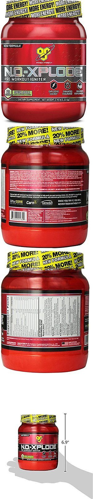 Other Sports Supplements: Bsn N.O.-Xplode - Green Apple, 2.45 Lb (60 Servings) BUY IT NOW ONLY: $37.57