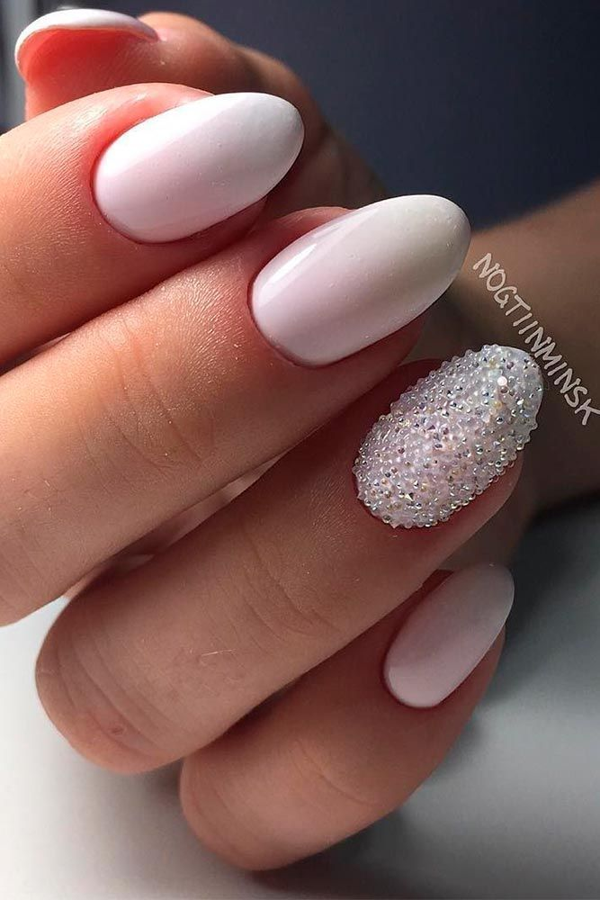 Bridal & Wedding Nail Designs 50+ photos d'ongles de mariage #Nail Design #Wedding …   – Braut Nägel – Bridal nails