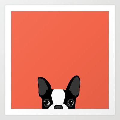 Boston Terrier Art Print by Anne Was Here - $15.50
