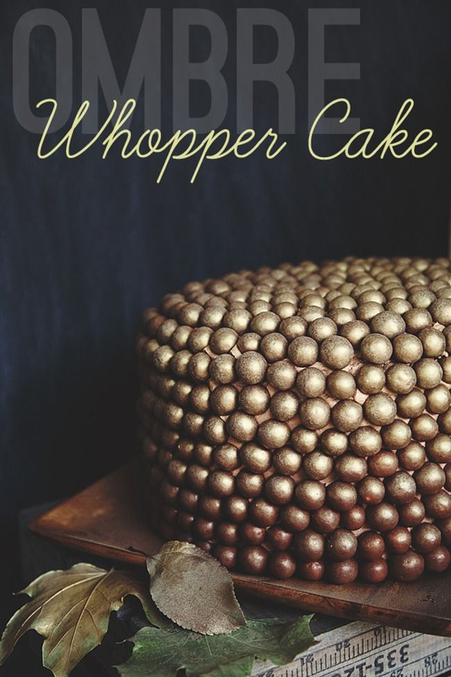 An autumn inspired ombre Whopper Cake from #whipperberry #cake #chocolate -This looks AMAZING!
