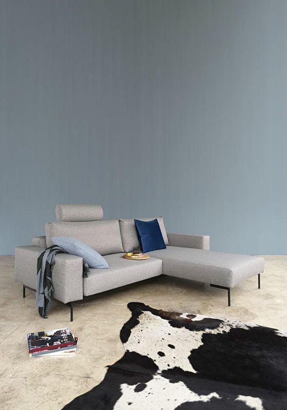 Bragi zitbank | slaapbank met 2 armleuningen van Innovation Living www.innostore.nl
