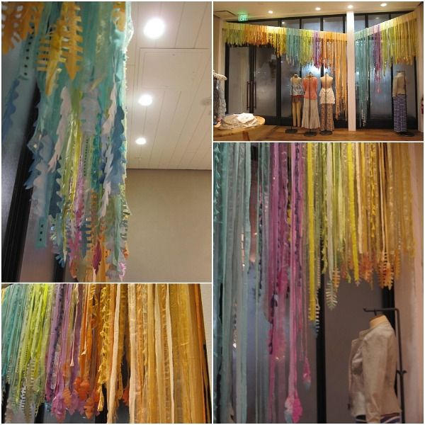 fabric streamer curtains ~ free people store