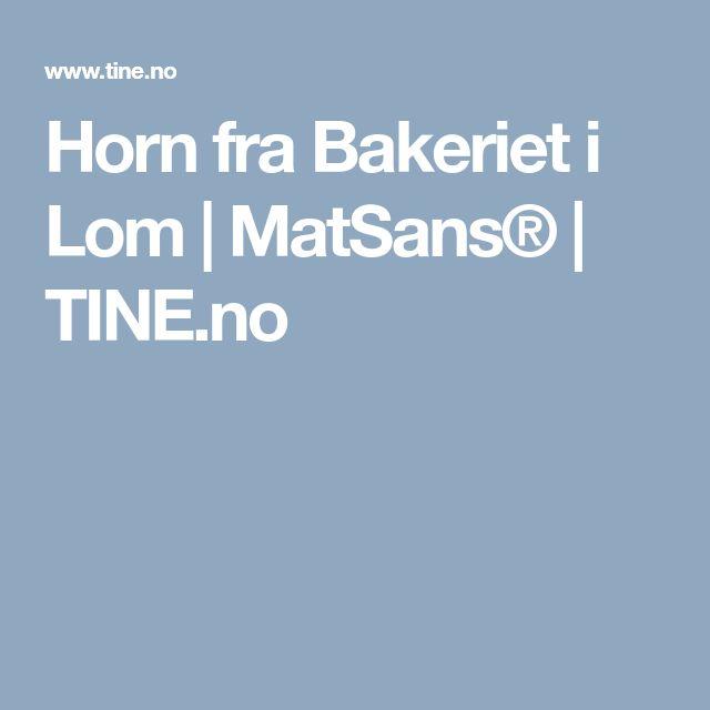 Horn fra Bakeriet i Lom | MatSans® | TINE.no