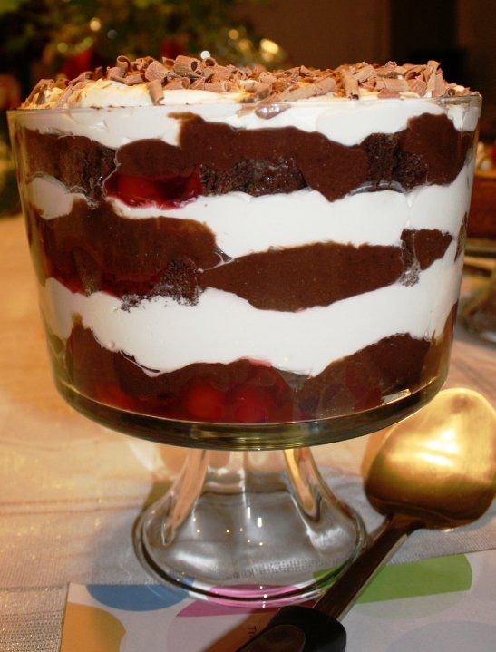 Black Forest Cherry Trifle   Good Eats Society: BLACK FOREST TRIFLE