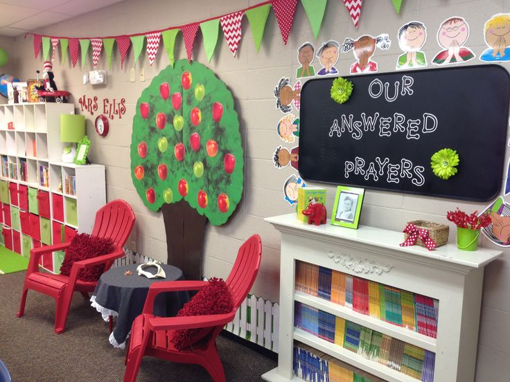 Conway Christian 4th Grade: Apple theme classroom; #schoolgirlstyle