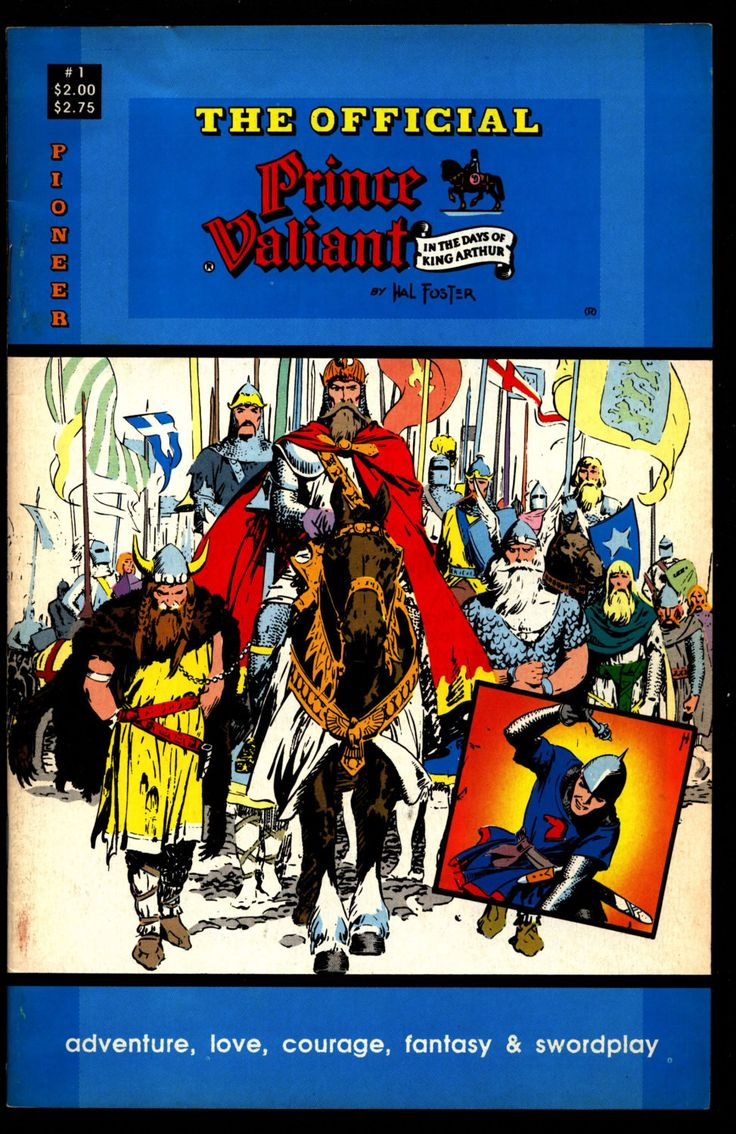 Official PRINCE VALIANT #1 Hal Harold R. Foster King Arthur's Round Table Camelot Comic Book Newspaper Funnies Reprints Pioneer Comics