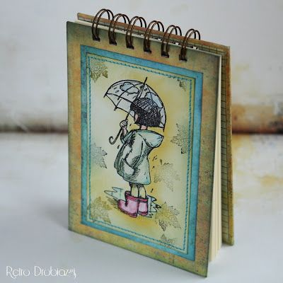notepad umbrela stamp