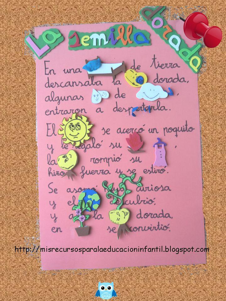 Recursos didácticos para la etapa de Educación Infantil: Poema - La semilla dorada, de Nilda Zamataro