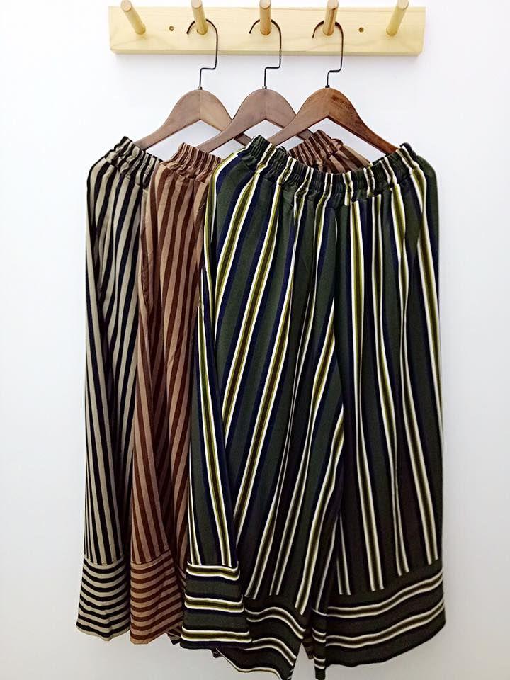 3/4 cropped pants in 3 colors 独特线条设计配搭简约的宽松裤