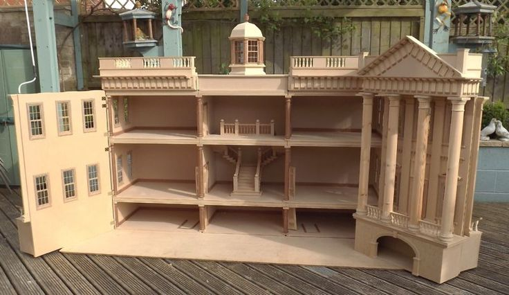 For Sale - Large Georgian Style Dolls House - The Dolls House Exchange