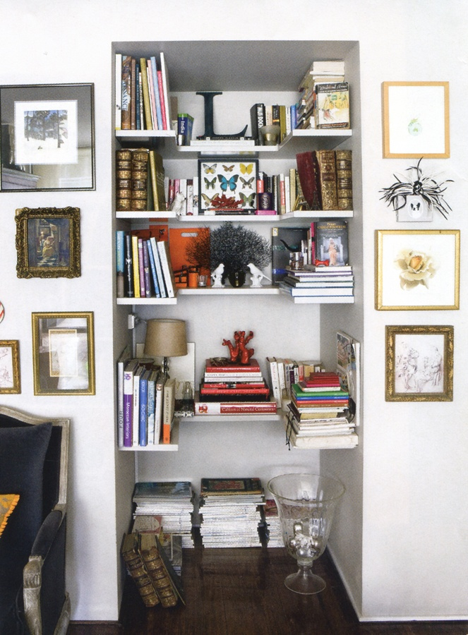 shelving nook.....for that awkward space near the bathroom