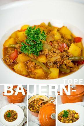 Ein ganz einfaches One Pot Gericht aus Kartoffeln, Hackfleisch, Paprika und anderem Gemüse. #onepot #eintopf #bauerntopf