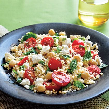 This main-dish couscous salad is ready in 20 minutes and contains whole wheat couscous, chickpeas, tomato, and feta cheese. You can...