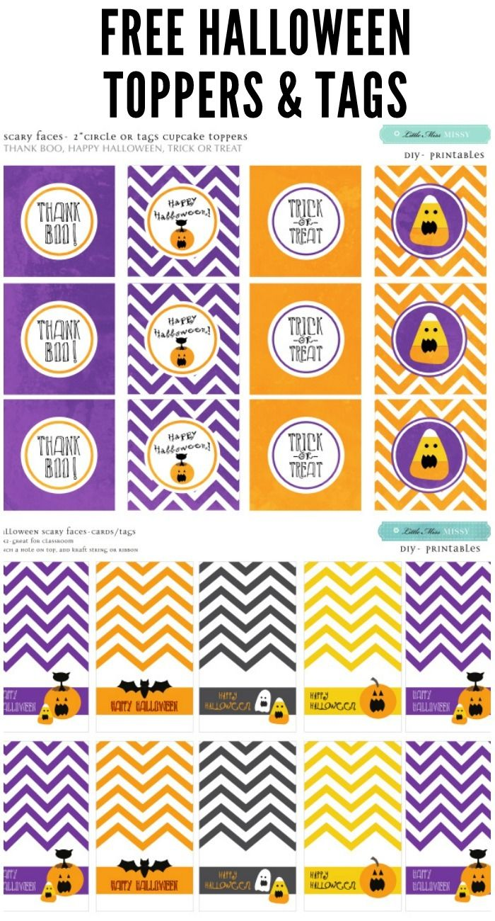 blue jordan 6 FREE Halloween Toppers and Tags   halloween  printables