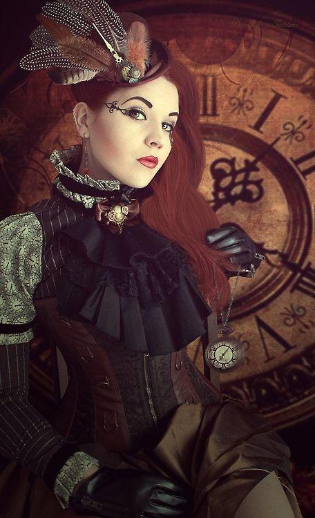 steampunk-hotties:  Steampunk time by Ha