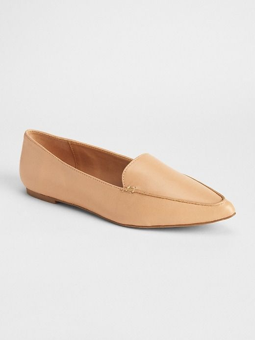 5c42add7601 Gap Women s Leather Pointed Loafers Nude