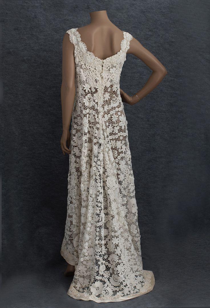 the 25 best crochet wedding dresses ideas on pinterest unique wedding gowns diy crochet. Black Bedroom Furniture Sets. Home Design Ideas