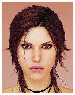 Lara Croft. I like her hair style...I may have to try to draw it..