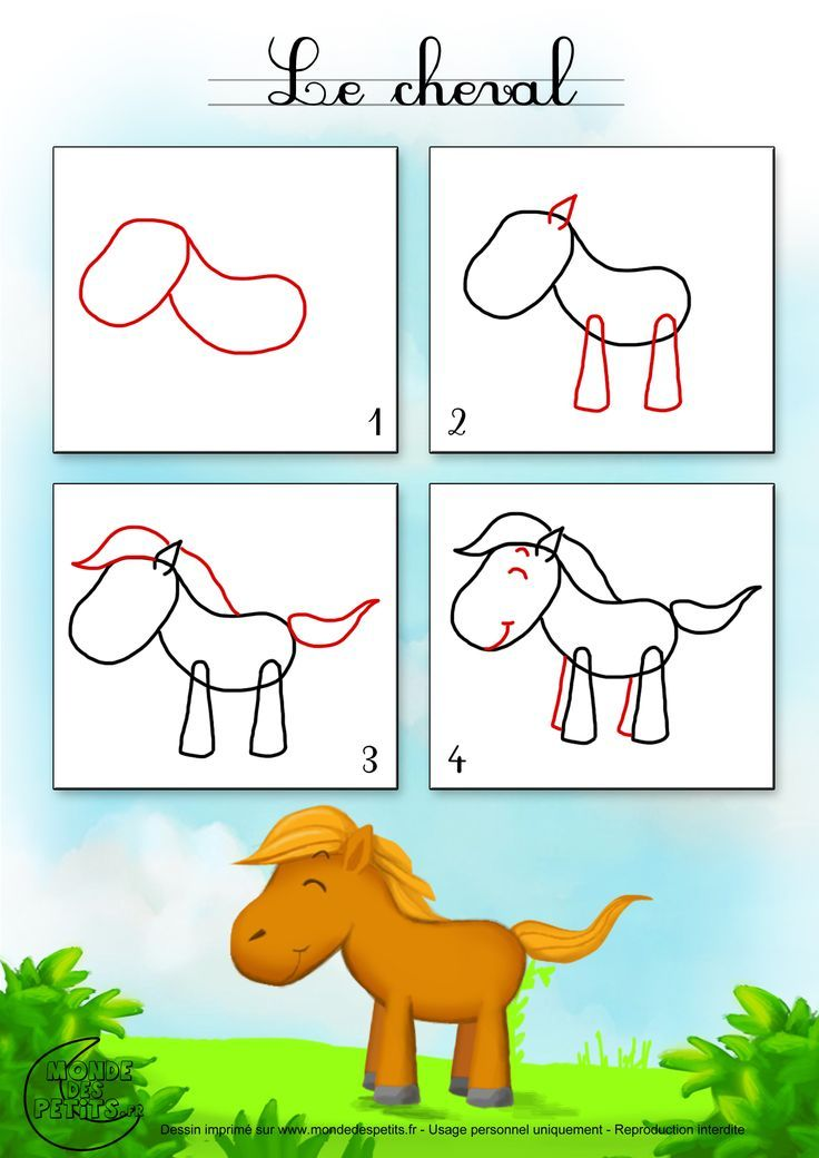 Drawing1_How to draw a horse? – Angie