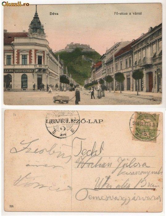 deva romania | Romania,Deva Fo-utcza a varral,Strada principala,1906. - Okazii ...