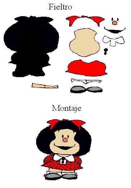 Moldes de Mickey Mouse en fieltro - Imagui