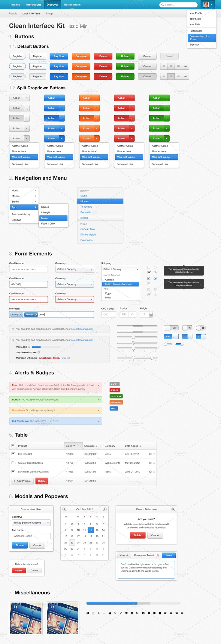 Clean Interface Kit  by haziqmir