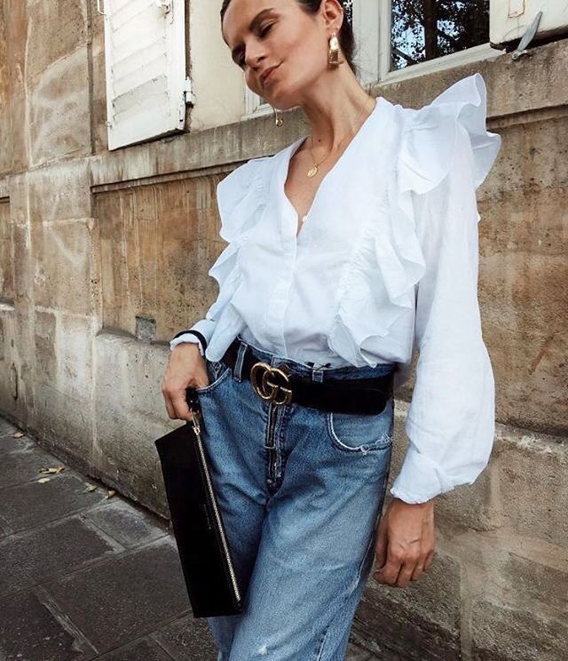 """734 curtidas, 7 comentários - Scandinavian Inspired Fashion (@scandinavianfashions) no Instagram: """"On the trend with ruffles and a classy @gucci belt . . . #beautiful #jewerly #sparkles #gucci…"""""""