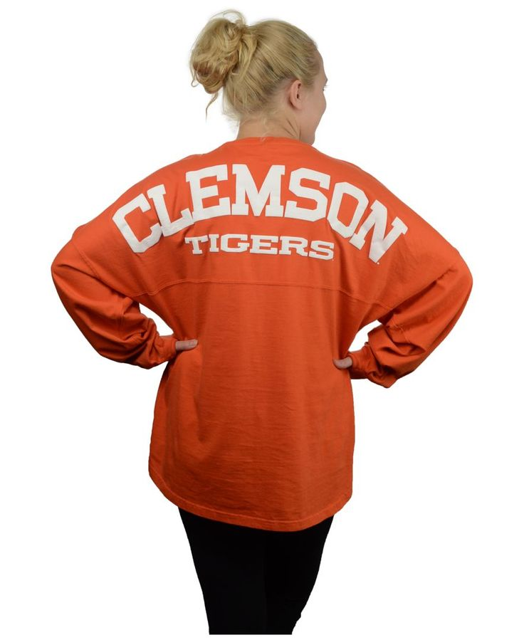 Royce Apparel Inc Women's Long-Sleeve Clemson Tigers Sweeper T-Shirt