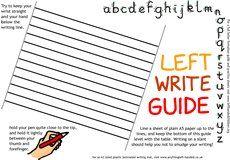 Info on helping lefthanded children to write (lefthanded children.org)