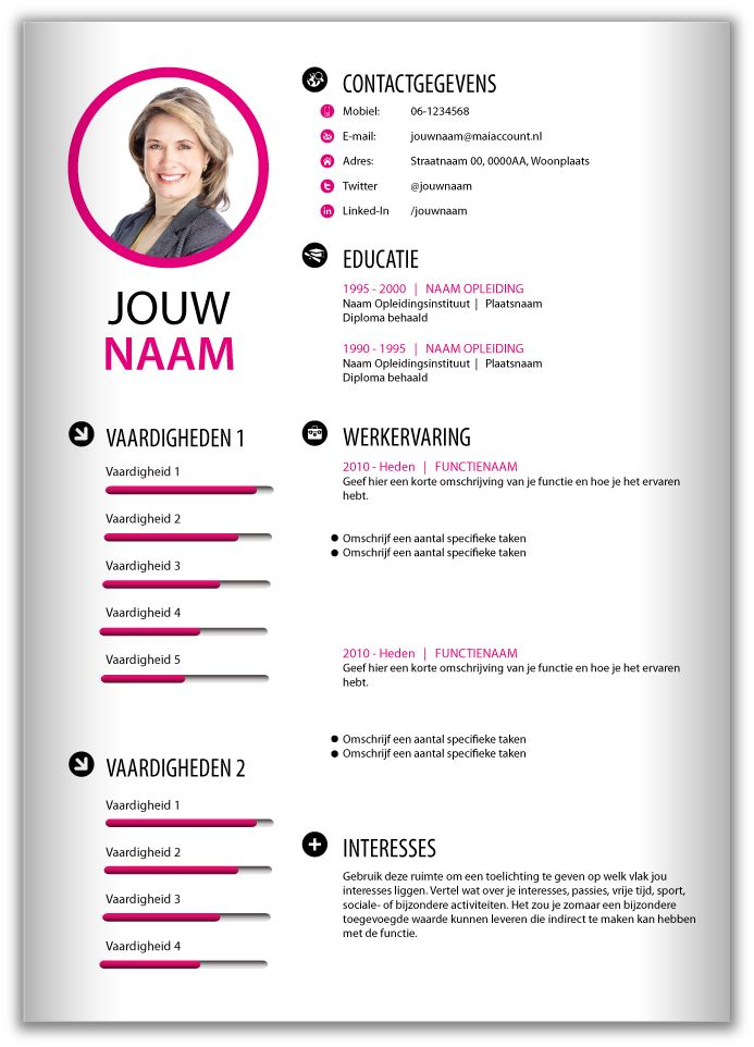 158 best CV's van nu images on Pinterest | Resume design, Creative