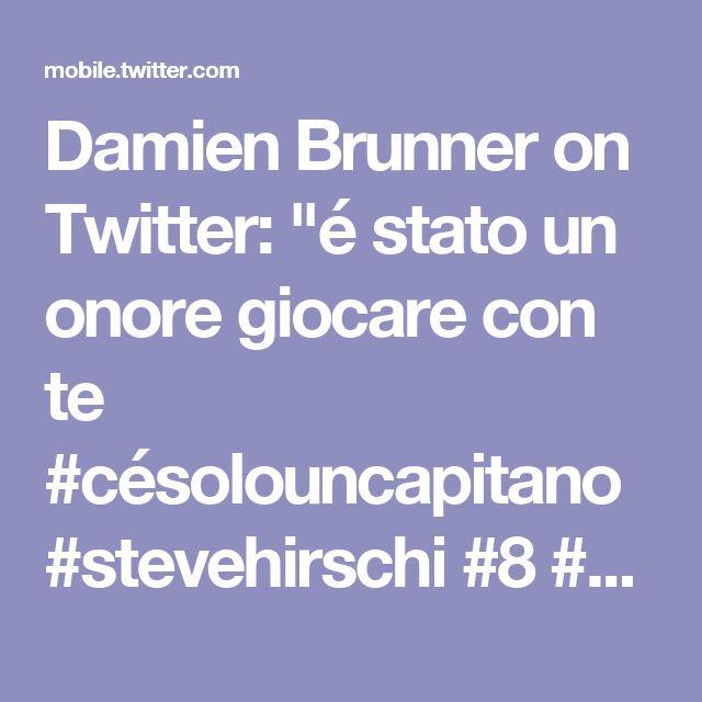 "Damien Brunner on Twitter: ""é stato un onore giocare con te #césolouncapitano #stevehirschi #8 #hclugano #luganopersempre https://t.co/P9Y3fkEVSJ"""