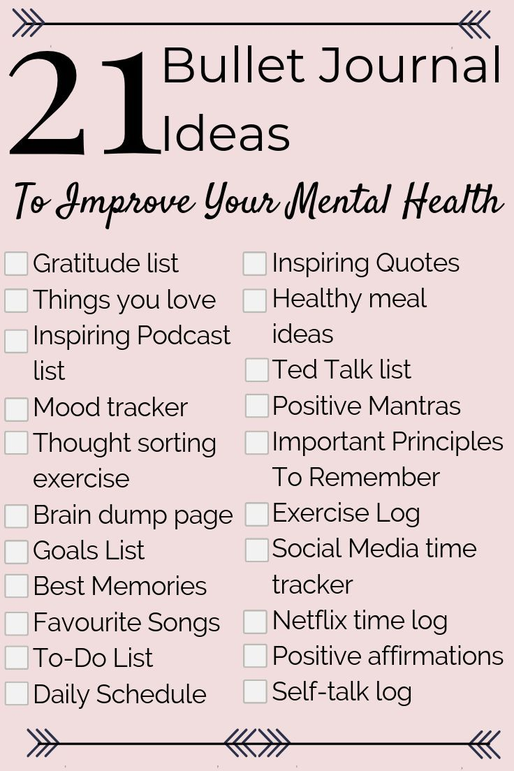 21 Mental Health Bullet Journal Ideas to Help You Relieve Anxiety Fast!