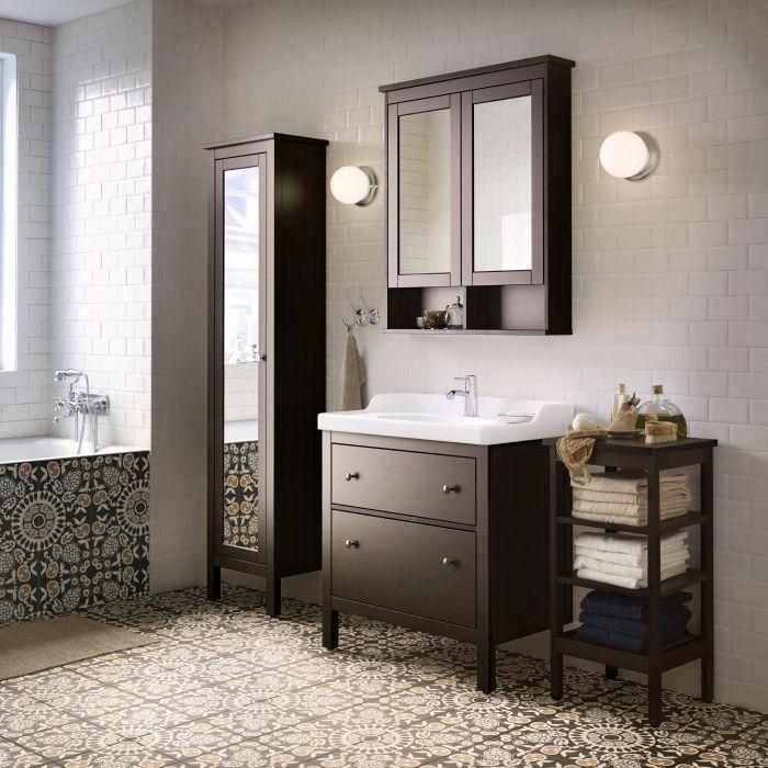 Keep it classic with our HEMNES bathroom range.