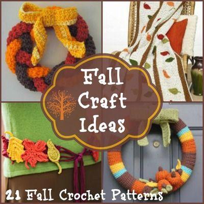 200+ Fall Crafts and Thanksgiving Crochet Patterns | AllFreeCrochet.com                                                                                                                                                                                 More