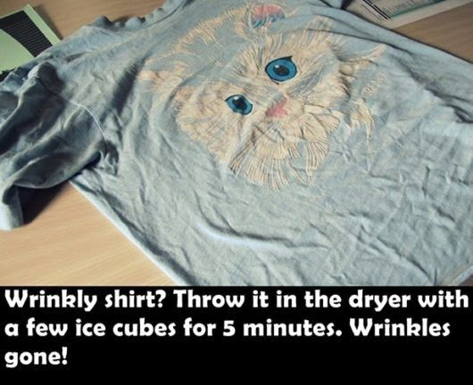 Unwrinkle a shirt in a  flash