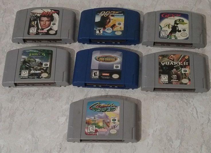 Lot of 7 Nintendo N64 Games  Goldeneye 007 Turok cruis'n Cleaned & Tested #Nintendo