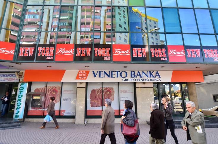 """Veneto Banka's branch @Stadiumi """"Dinamo"""" in Tirana ..."""