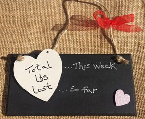 Heart Weight Loss Countdown Plaque