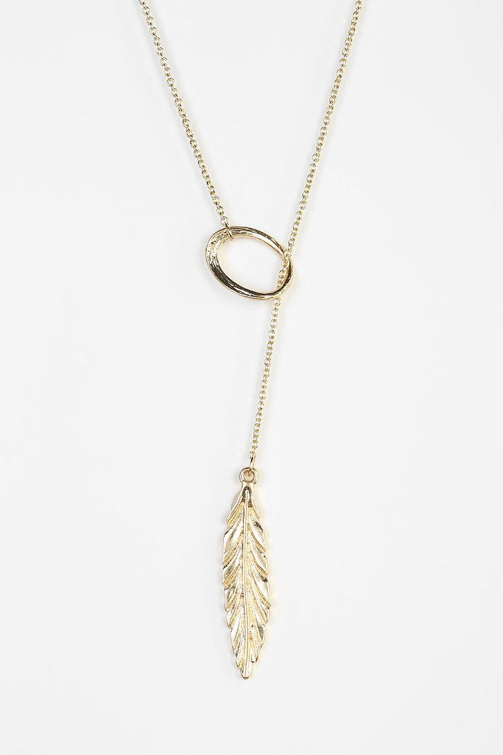 Feather Lariat Necklace - Urban Outfitters