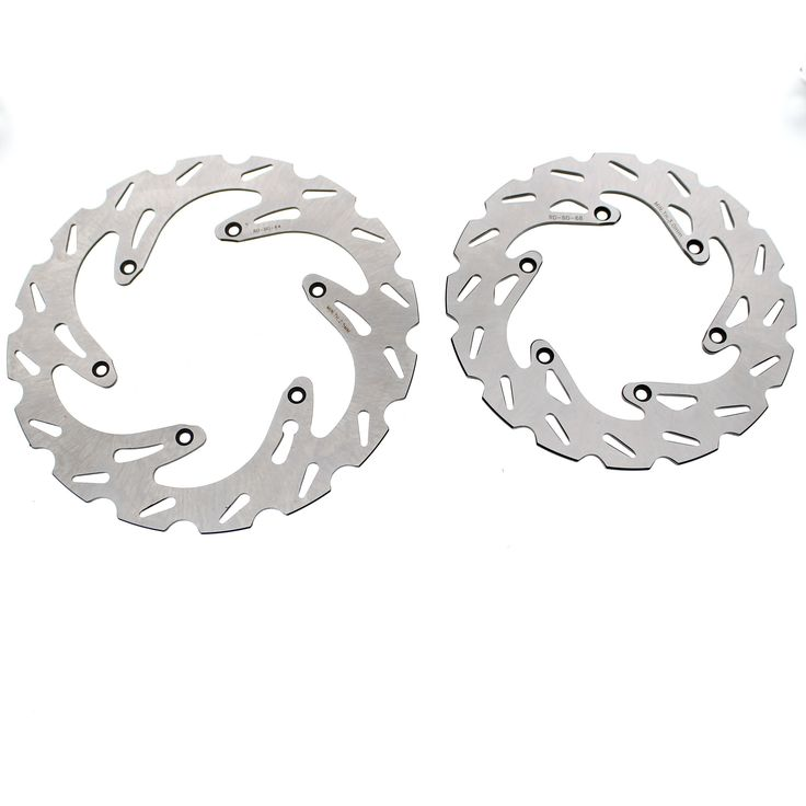 2004 - 2010 KTM 250 EXC Front and Rear RipTide Brake Rotor Discs, Silver stainless steel