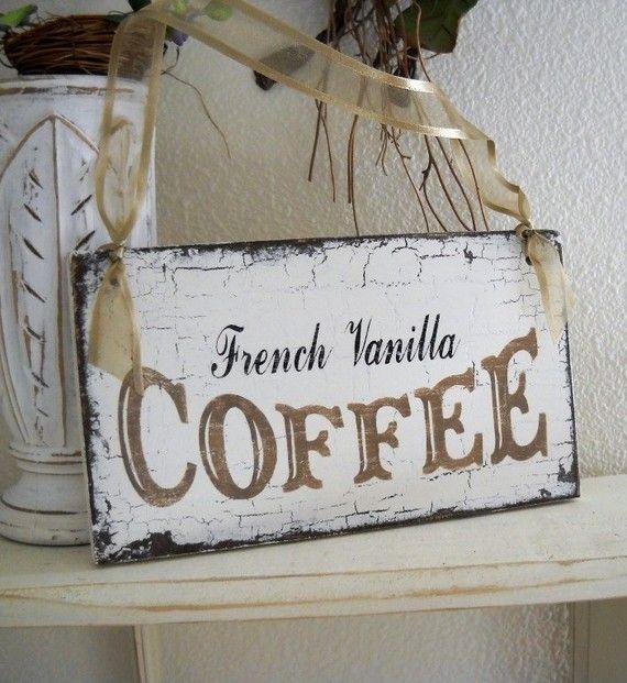 FRANCESE vaniglia caffè Cottage Shabby di thebackporchshoppe