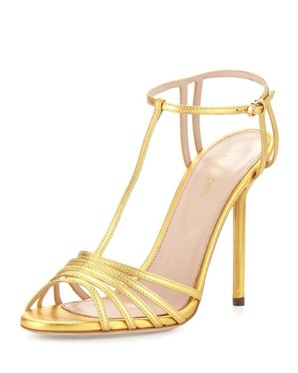 Sergio Rossi Woman Metallic Leather Platform Pumps Gold Size 34 Sergio Rossi MBFVCp7Hw