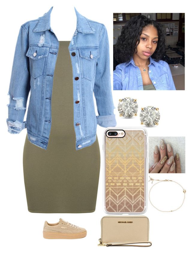 """""""God Is Good ✨"""" by amournyaa ❤ liked on Polyvore featuring WearAll, Casetify, Puma, Auriya and MICHAEL Michael Kors"""