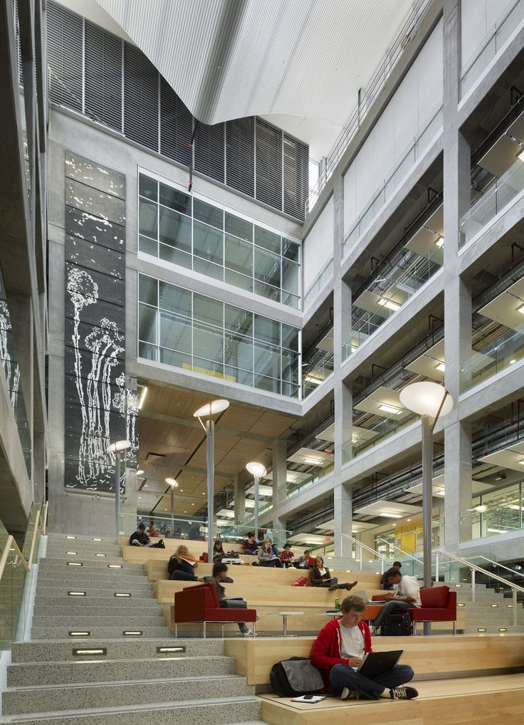 Calgary EEEL Social Stair Interior Design MagazineLearning SpacesSchool