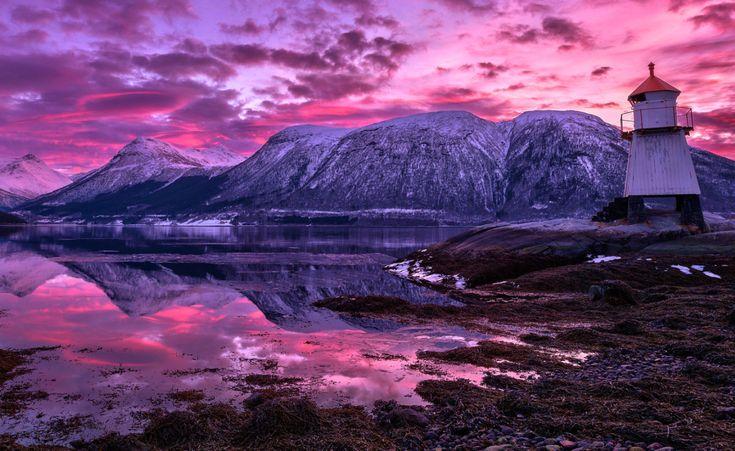 Purple SKY, THE MAGIC OF NORWAY'S LANDSCAPE