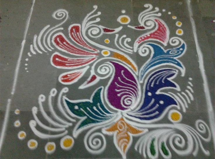 512 best pinki rangoli collection images on pinterest for Floor rangoli design