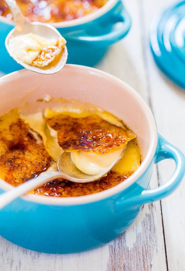 The Best & The Easiest Classic Crème Brûlée - Finally an easy recipe for smooth, rich, creamy, restaurant-quality crème brûlée!