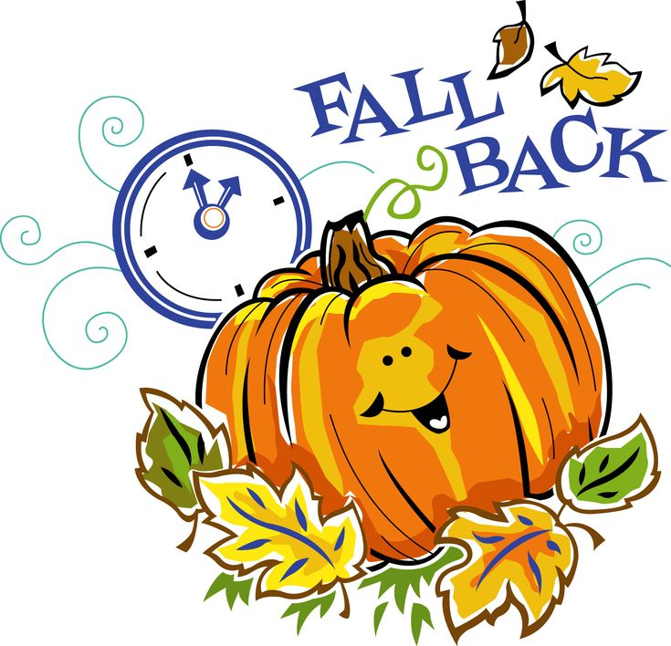 "It's Time to ""Fall Back""! -- Set your clock back 1 hour Saturday night before you go to bed (11/3 :)"